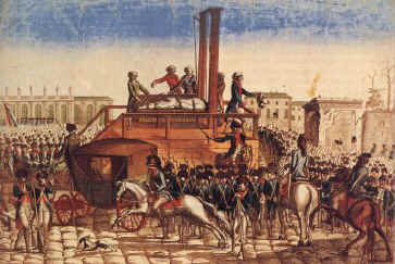 The trial (Dec 1792) and execution (Jan 1793) of Louis XVI